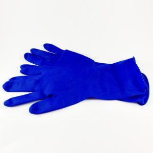 Guante de látex azul sin polvo