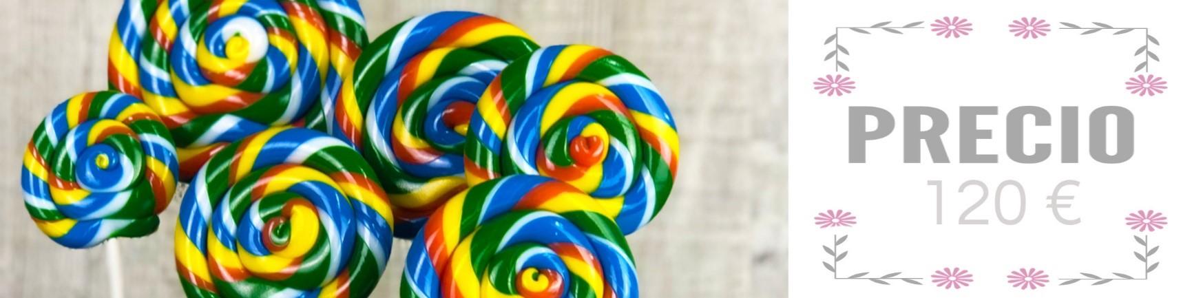 Precio del curso de piruletas de caramelo