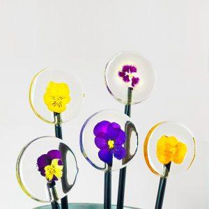 Curso de piruletas de Isomalt con flores naturales