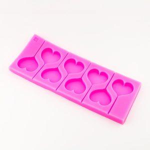 Molde de silicona de corazones