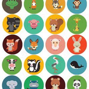 Impresiones comestibles animales