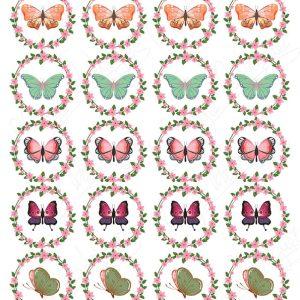 Impresiones mariposas vintage