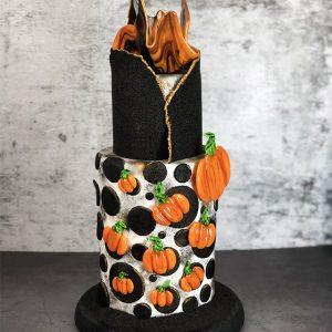 Tarta de azúcar isomalt de halloween