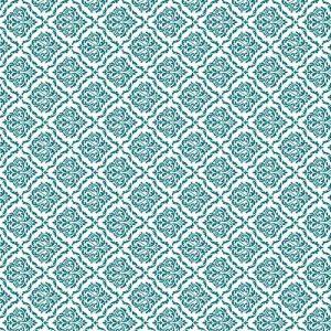 Impresión comestible arabesco azul