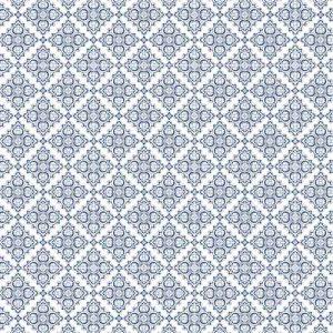 Impresión comestible arabesco azul prusia