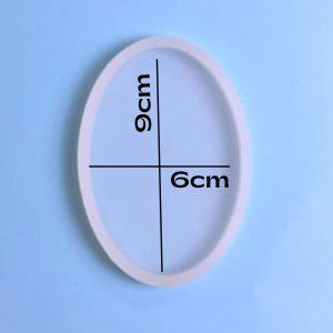 Molde silicona forma óvalo